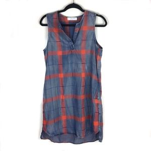 Kloth > Plaid Sleeveless Tencel Dress w/ Pockets